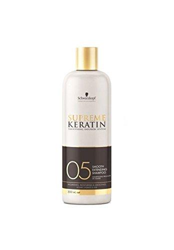 supreme keratin shampoing prolongateur de lissage 05 300ml