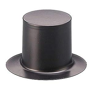 Knorr Prandell Gütermann 6872042 - Sombreros de copa (70 mm, 2 unidades), color negro brillante