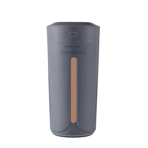 Yeying123 Color Taza De Luz USB Carga Mini Humidificador Colorido Noche Luz Silencioso Humidificador,Gray