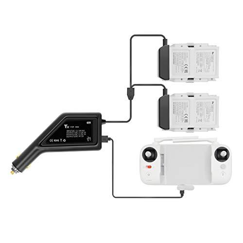 SilenceID Compatibile con XIAOMI FIMI X8 SE Drone 3 in1 Caricabatteria USB per Auto Caricabatterie per Telecomando (Nero, 18,8x9,8x3,8 cm)