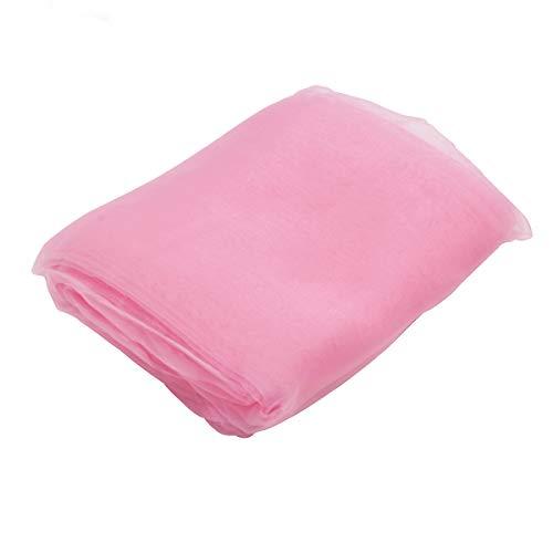 Ccsimple 10m x 1.35m tessuto organza swag tulle matrimonio decorazioni festa natalizie gonna da tavolo accessori natalizi tovaglia - rosa chiaro