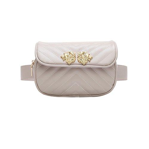 TTD Mode kleine süße Taille Fanny Pack Tasche Handytasche für Frauen & Mädchen-Weiß