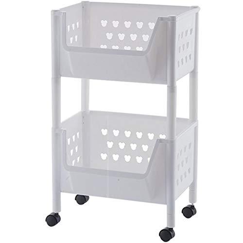 SuoANI Servierwagen IKEA,Edelstahl servierwagen,Servierwagen Rollen,Kunststoff,Küchenwagen | Teewagen Anthrazit,Für Küche, Bad und Büro