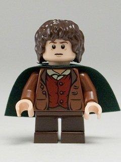 LEGO El Señor De Los Anillos: Frodo Baggins Minifigura Con Verde Capa 1