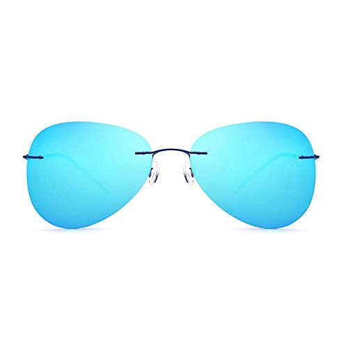 Easy Go Shopping Original Mirror Lens Polarized Sonnenbrillen BrillenUnisex UV400 Protection Sonnenbrillen Sonnenbrillen und Flacher Spiegel (Farbe : Navy blau, Größe : Einheitsgröße)