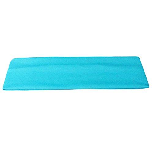 Black Temptation Outdoor/Indoor Einfache Sport-Stirnband Sky Blue Yoga Laufschweißband -