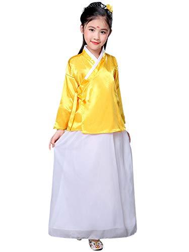 YIHIGH Hanfu,China Kleidung Bühne Kostüm Cosplay Theater Fotografie Leistung Kostüm,Gelb,EU 120=Tag 130