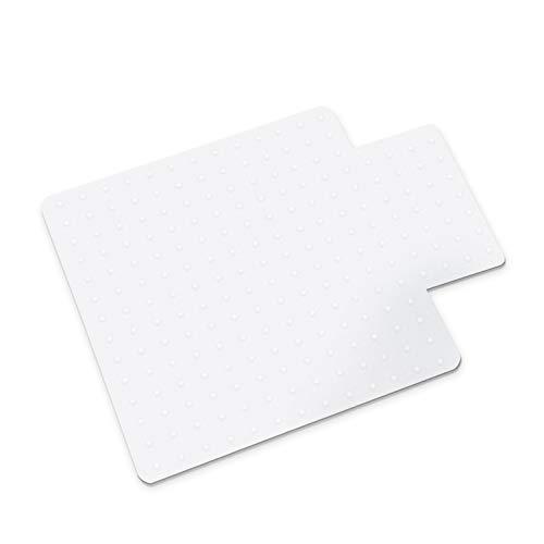 Office Marshal Bodenschutzmatte für Teppichböden, rechteckig mit Lippe, kein Recyclingmaterial, Bisphenol A (BPA) -frei | 90x120 cm