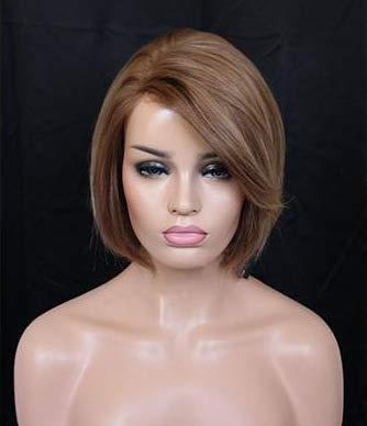 ZYFBN Perücke Unisex Kurzes Haar Glattes Haar Goldene Chemiefaser Hochtemperaturdraht Perücke Party Rollenspielperücke