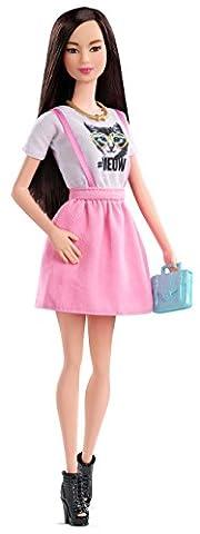 Mattel CLN66 Barbie - Fashionista Puppe mit Katzen Shirt