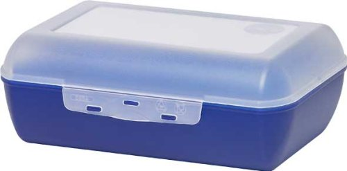 emsa brotdose variabolo Emsa 505165 Brotdose, 19 x 13,5 x 7 cm, Transparent/Blau, Variabolo