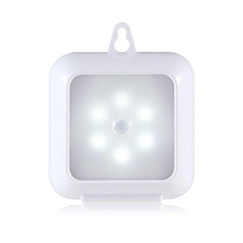 Pawaca LED Nachtlicht mit Bewegungsmelder, LED Bewegungsmelder Licht, Nachtlicht Magnetisch und 3m Klebend,Bewegungssensor für Kinderzimmer, Schlafzimmer, Küche, Orientierungslicht, Batterie-Betrieb (nicht Enthalten)