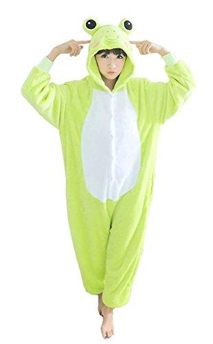 Kidslove Pyjama Tieroutfit Tierkostüme Schlafanzug Tier Onesize Sleepsuit mit Kapuze Erwachsene Unisex Jumpsuits Overall Damen Herren Pyjama Fleece