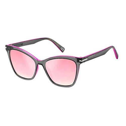 Marc Jacobs Sonnenbrillen (MARC-223-S 3MR/VQ) schwarz - fuchsia - rosa mit lila verspiegelt effekt