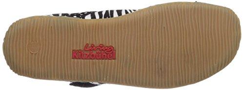 Living Kitzbühel Zebra mit Sterne Mädchen Flache Hausschuhe Mehrfarbig (schwarz-weiß 909)