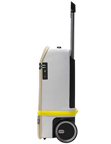 Valise Cabine | Xtend® | 55cm Extensible verticalement à 75cm, Powerbank autorisée en Cabine, Compartiments pour Ordinateur Portable, Roues silencieuses, Fingerprint TSA | Blanche et Jaune