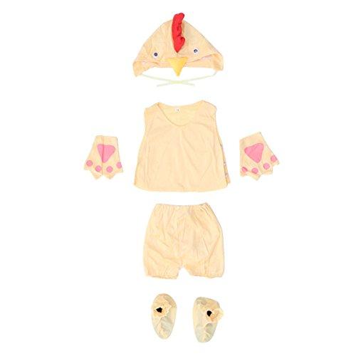 BESTOYARD Kinder Tier Kostüm Halloween Party Requisiten Prom Leistung Kostüme Set Größe - L (Gelbe Küken)