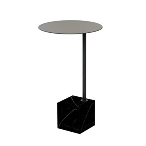 tisch Beistelltisch Runder Sofa-Beistelltisch-Kaffee-Kleiner Marmor-Ende-Tabellen-Tee-Tabellen, die Tabellen für Innenministerium nisten (Color : Gray 1) ()
