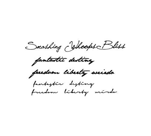 Drthukg adesivo tatuaggio adesivi per tatuaggi temporanei impermeabili per adulti bambini scritte a mano parole lettere tatoo per uomo donna a