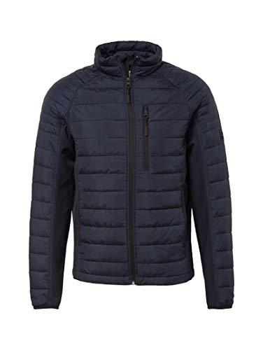TOM TAILOR Denim Jacken & Jackets Leichte Steppjacke Knitted Navy, M