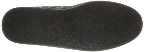 Victoria - Plateforme Blucher Leopardo, Sneaker Donna Nero (noir)