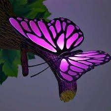 Papillon Déco 3D Lumière Rose ~ ~ On dirait que la branche est en croissance sur le mur! ~ ~ Salle de jeux / chambre d'enfants