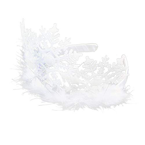 Rappa Bezaubernder Haarreifen Tiara Schneeflocke für kleine Eisprinzessinnen