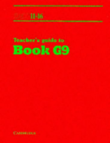 SMP 11-16 Teacher's Guide to Book G9: Teacher's Guide Bk.G9 (School Mathematics Project 11-16)