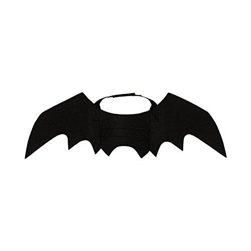 Somedays pets costumi vestiti, panno nero pipistrelli di feltro per travestimento di halloween festival party per cucciolo di cane gatto