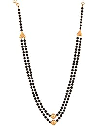 Ganapathy Gems Beads Jewellery Black Shell Pearl Multi-Strand Necklace For Women (12438)