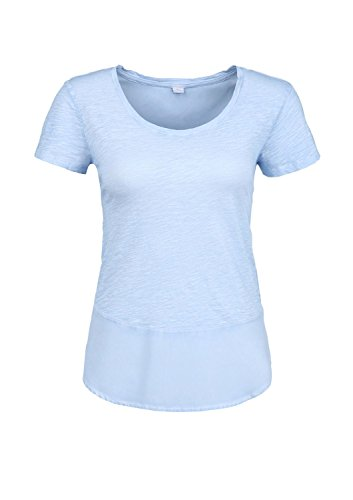 s.Oliver 14.503.32.2189 - T-shirt - Femme Bleu - Blau (pastell blue 5302)