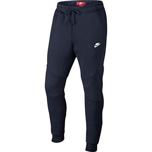 new styles 8dfa2 ef4e8 Nike M NSW TCH FLC JGGR Un Pantalon Homme, Obsidian Obsidianheather White,