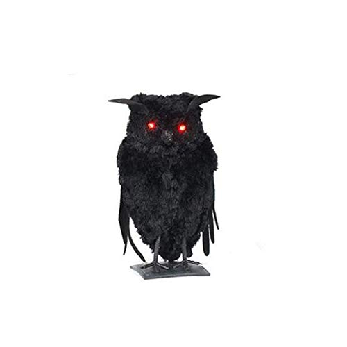 Aploa Halloween Anhänger Dekoration Requisiten Layout Party Dekoration Simulation Crow Black Cat Für Wohnkultur, Party, Halloween, Weihnachten, Karneval (A)