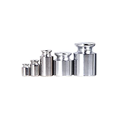 KKmoon Weight 1g 2g 5g 10g 20g Chrome Plating Calibration Gram Scale Weight Set for Digital Scale