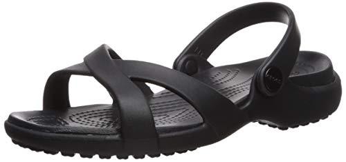 Crocs Meleen Crossband Sandal Women, Punta Aperta Donna, Nero (Black 001), 42/43 EU