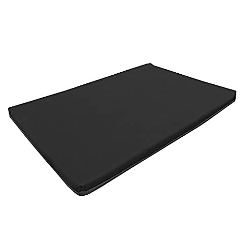 Large Waterproof Orthopaedic Rectangle Memory Foam Dog Bed / Travel Mat | Black | 100cm x 65cm x 5cm