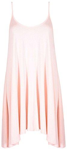 Funky Boutique Jupe Patineus'à bretelles pour femme Mini robe Cami Débardeur Swing : 8-26 Rose - Pêche