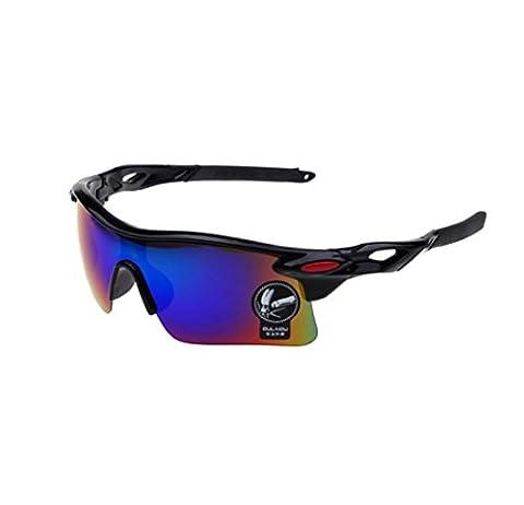 Xiahbong Unisex Square Sports Ex-Proof Sonnenbrille Outdoor verspiegelte Eyewear (G)