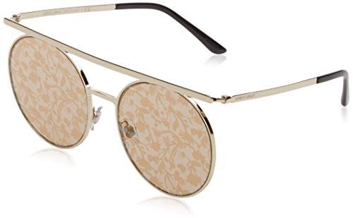 Armani Damen 0ar6069 Sonnenbrille, Pale Gold/Browngradtampoflowersilver, 56