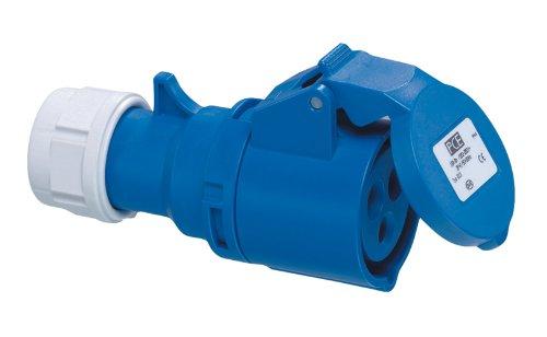 REV CEE CARAVAN KUPPLUNG 3-polig 16A 230V~ – Made in Europe ǀ CEE Stecker Kupplung für Industrie Handwerk Boot Camping ǀ spritzwassergeschützt IP44 ǀ Farbe: blau