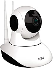 D3D D8810 1080P WiFi Home Security Camera 360 PTZ (White)