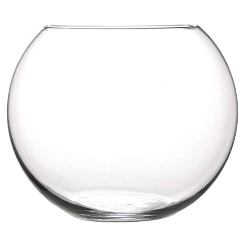 INERRA Pequeño Pecera Cristal Redondo Jarrón – para Flores, Ramos Flores & Centros de Mesa 7.5cm X 10cm – Transparente…