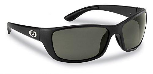 Flying Fisherman Cay SAL Polarisierte Sonnenbrille mit matt schwarz Rahmen, Damen, Smoke Lenses