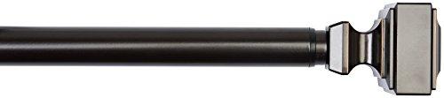 Amazonbasics - bastone da tenda, con terminali a forma cubica, da 182,88 cm a 365,76 cm, bronzo, diametro 2,54 cm