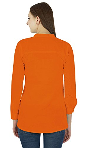 Coton Top Robe Boho Porter Vêtements Robe D'Été Tunique Casual Orange