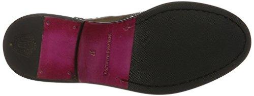 Melvin & Hamilton Damen Sally 45 Chelsea Boots Grau (Big Croco / Crust Rope (1,3,4) / Rope (2) / Rivets Silver Outs., Ela. Mid Brown, Hrs Brown)