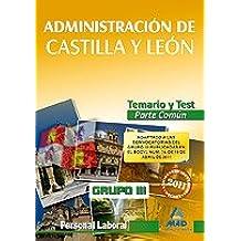 Grupo Iii Personal Laboral De La Junta De Castilla Y León. Temario Y Test Parte General Común