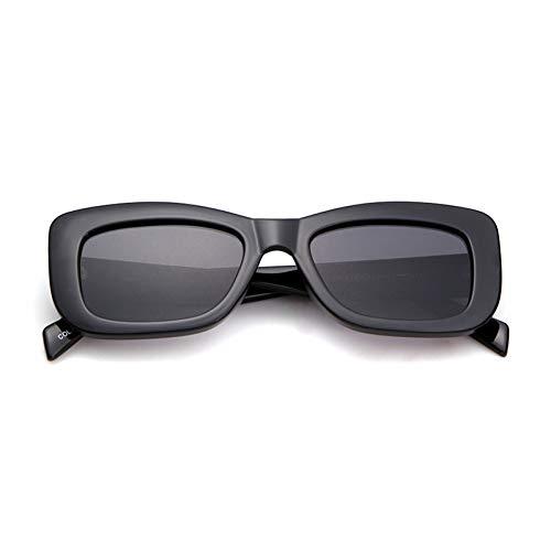 ZRTYJ Sonnenbrille Übergroße quadratische Sonnenbrille Frauen Männer Retro Markendesigner-Weinlese-Starke rechteckige Rahmen-Mädchen-Sonnenbrille