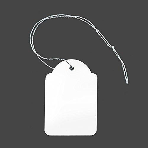100 Etiketten mit Faden 36 x 53 mm Preisetiketten Preisschilder Faden Etiketten Schmucketiketten Fadenetikett Hängeetiketten Kartonetikett Preisauszeichnung [H-2653F]