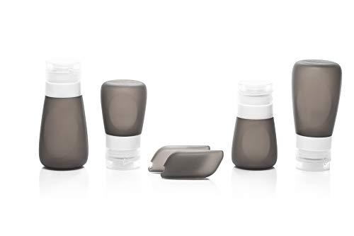 Set bottigliette da viaggio in silicone - set contenitori per liquidi da viaggio, a prova di perdita, omologati tsa, con pochette trasparente.